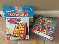 Selection of children games