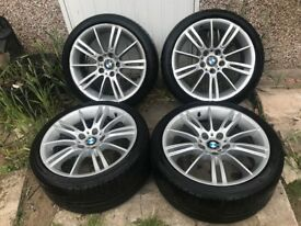 "GENUINE 18"" BMW MV3 ALLOY WHEELS PCD 5X120"