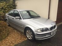 BMW318i Petrol 4 door saloon silver, 135,000 miles running but engine needs attention