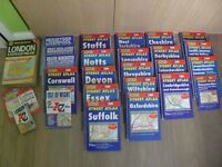Bundle of Philip's Street Atlas from all around the UK and Wales
