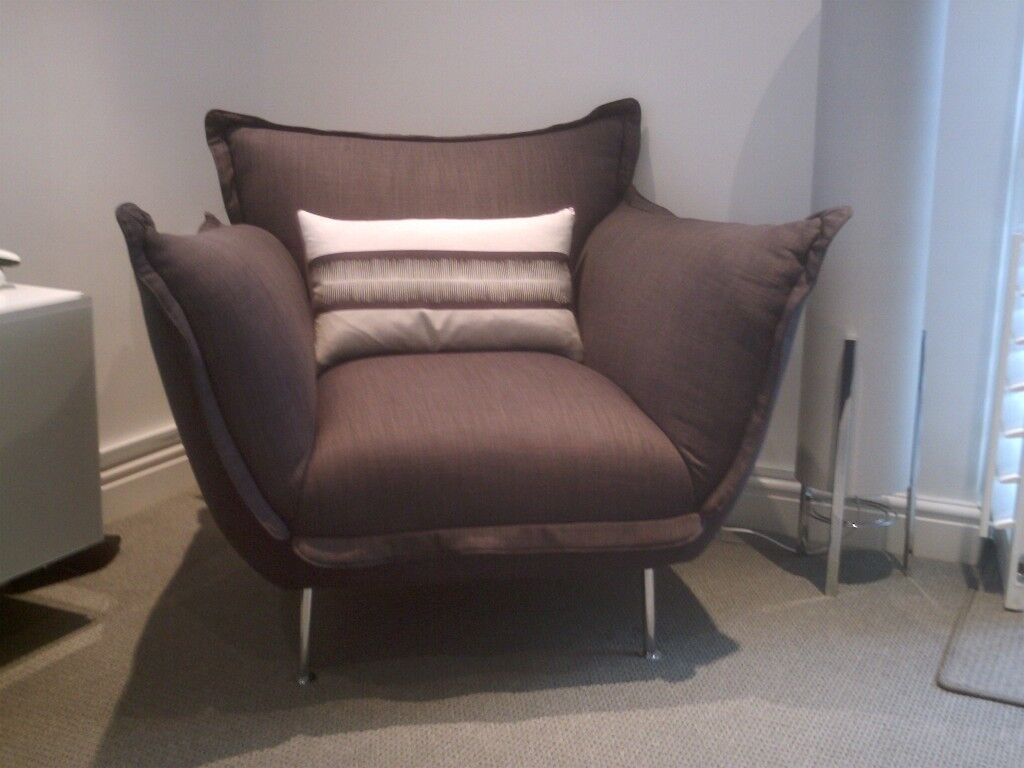 Admirable Modern Armchair With Chrome Legs In Broadstairs Kent Gumtree Dailytribune Chair Design For Home Dailytribuneorg
