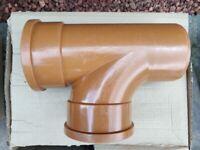 Underground Drainage Pipe Socket Junction Fittings, Bran New, 110mm Diameter