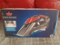 Bissell stain eraser been used once rechargeable and cordless