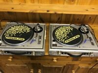 Technics 1200 - pair for sale in good condition with ortofon concorde needles and flight cases