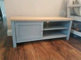 New tv grey laminate oak stand unit furniture livingroom television