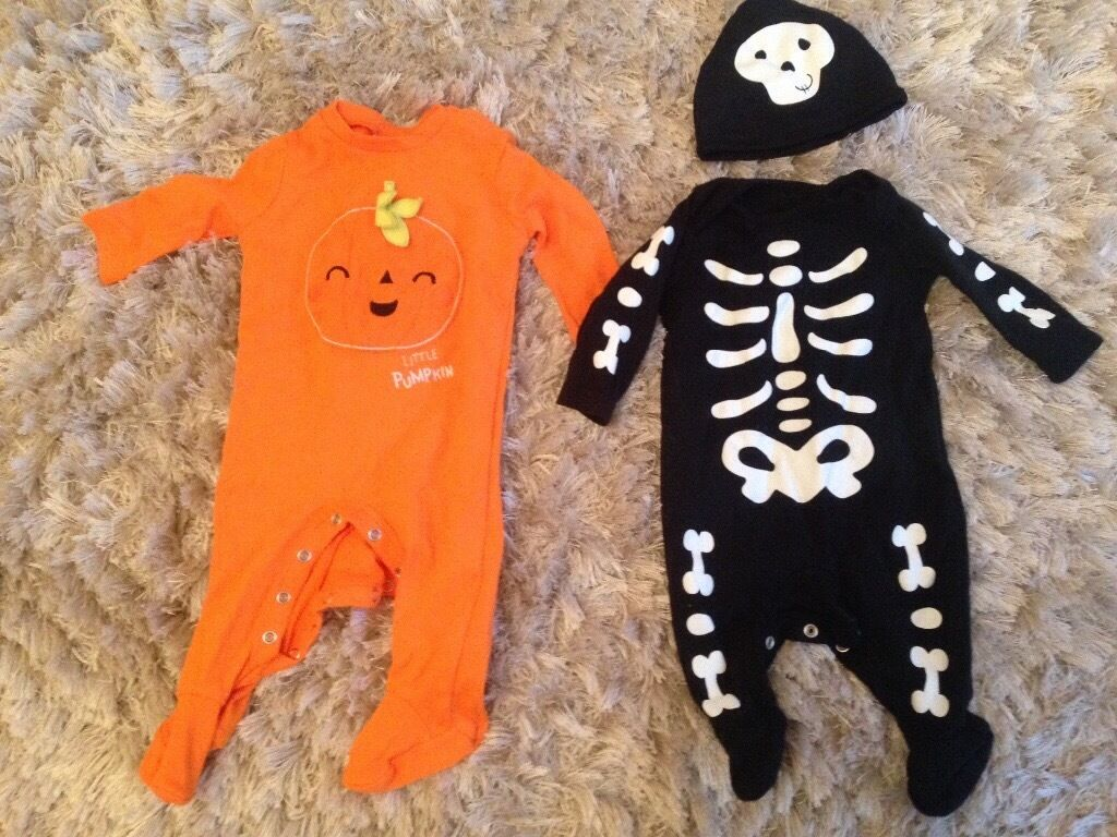 Two Halloween outfits 0-3 months old