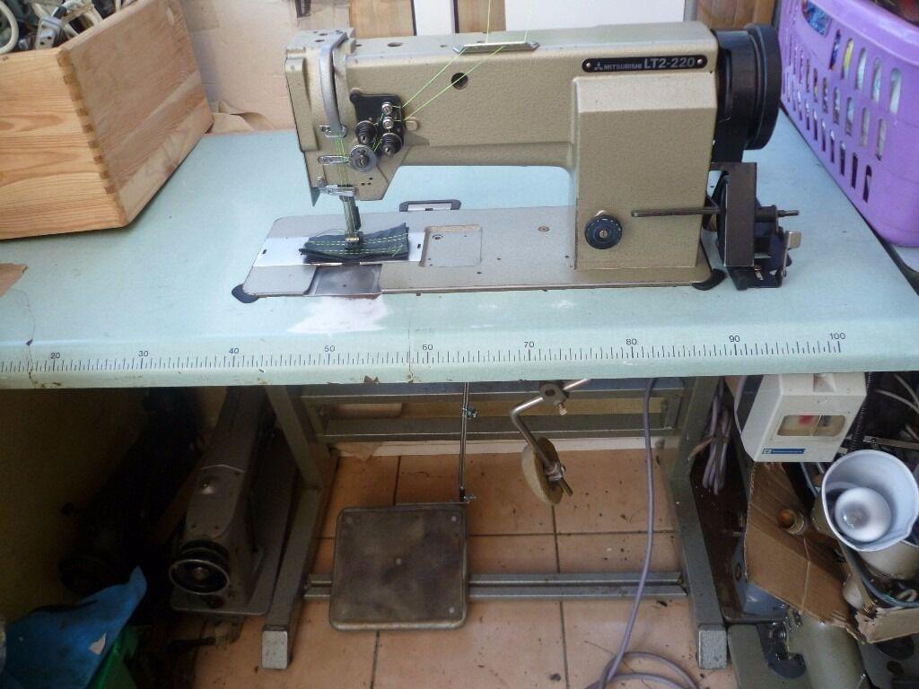 MITSUBHISHI LT2-220 TWIN NEEDLE FEED INDUSTRIAL MACHINE