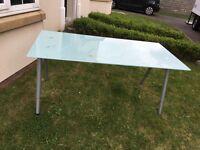Large modern glass desk / table
