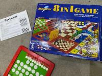 Games 8in1 Chess, Ludo, Draughts, Solitaire Backgammon, Chinese checkers & 4 in a row