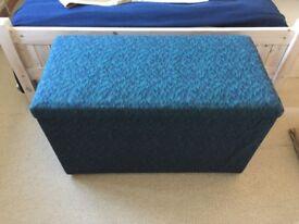 Large upholstered blanket box