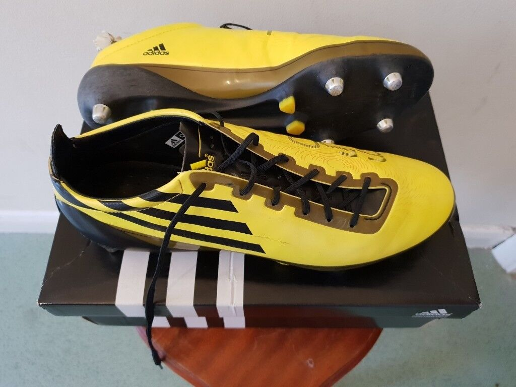 dbead5458 Football Boots Adidas F50 Adizero SG Yellow Size 10