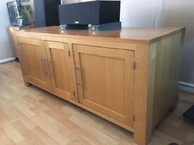 Bespoke AV cabinet medium oak