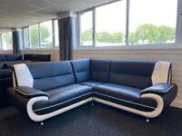 SOFA SALE - Brand New Corner Sofa - Black and White