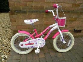 "Girls Bike – 16"" wheel – Almost new condition."