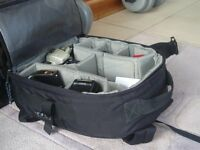Handy camera back pack style bag.