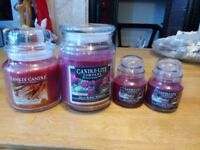 Luxury candle collection: Large Yankee Candle and Candle lite collection