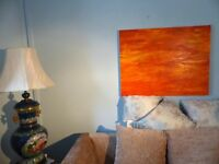 Original Modern Art Oil Painting by Local Artist John Hughes - painted in & Yellow