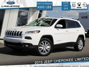 2015 Jeep Cherokee LIMITED*4X4*CUIR*TOIT*GPS*CAMERA*BLUETOOTH**