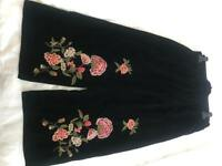 New Black velvet embroidery