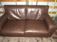 2-seater brown sofa - can deliver