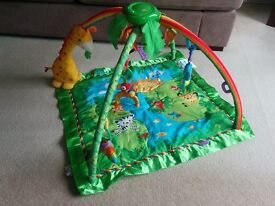 FISHER PRICE Unisex Deluxe Rainforest Baby Play Gym