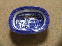 Staffordshire Pottery Blue Willow Dish £15