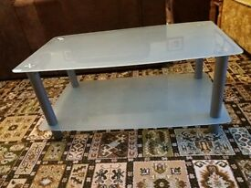 Large Frosted Glass Coffee Table
