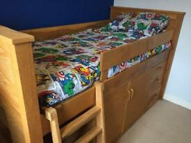 Quality solid wood cabin bed