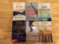 Six different John Grisham Novels