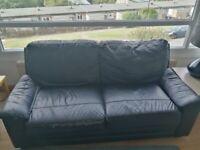 Free black 3-seater sofa