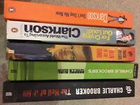 Book Bundle Clarkson, Charlie Brooker, Qi, dreambook, darwin awards.