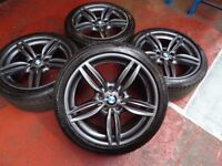 "19"" BMW Genuine M-Sport (Style 351) F10 F13 Alloy Wheels RUNFLAT TYRES (8.5J)"