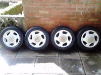 "Nissan 4x100 14""alloys with tires"