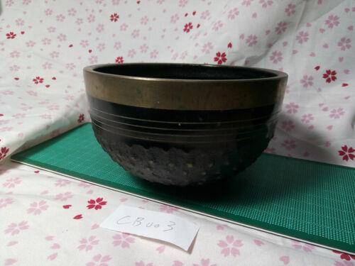"5.236"" Japanese Vintage Buddhist Bell Casting Brass CB003 Very Rare"