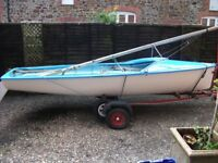 sailing dinghy boat lark *only £495ono* including road and launch trailer