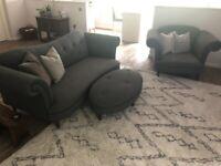 DFS Sofa, Armchair & Footstool