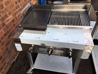 3 Burner Gas Charcoal Grill BBQ Grill Heavy Duty For Commercial Use SS330HPG