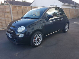 2008 Fiat 500 1.4 Sport Black Petrol Red Leather New Cambelt