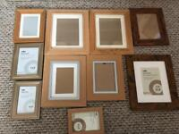10 ASSORTED PHOTO FRAMES