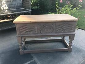 Beautiful hand carved workbox