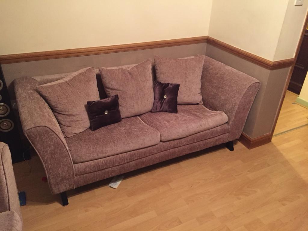 Dusky / salmon pink sofas