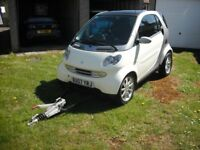 Smart Fortwo Passion with A-Frame, Motorhome Tow Car