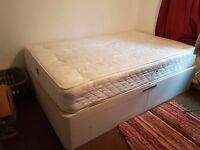 Double Bed and Mattress. The bed itself splits into two halves.