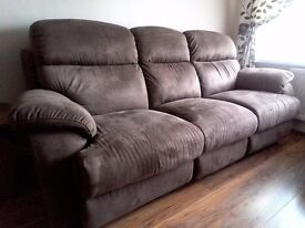 Sofa 3 seater and 2 seater plus foot stool