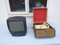 Vintage Bush SRP.31 record player and Philips TVCR240/05 @ low clearance price