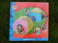 Kids fun colourful tent and tunnel