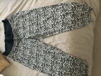 Maternity Trousers - H&M Black & White print size 14