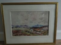 """""""Moorland- Islay"""" Watercolour by J.Wilson McKinnell. 40 pounds ONO"""