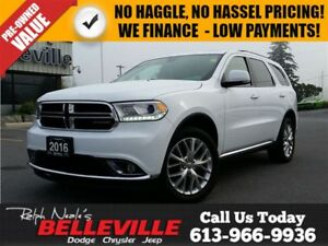 2016 Dodge Durango Limited-DVD-Sunroof-$129 Weekly!