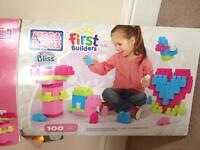 Girls mega blocks 100 pieces